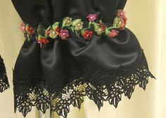 Black Matte Satin Bloomers / Pantaloons with by MissPussinBoots