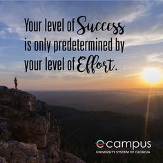 Your level of success is only predetermined by your level of effort. Wednesday Wisdom, How To Stay Motivated, Monday Motivation, You Can Do, Workplace, Effort, University, Success, Office Workspace