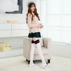 Find More Stockings Information about 2015 Autumn Winter Warm Stockings Women Girls Kawaii Striped Stockings Cotton Thigh High Stocking Knee Socks Over The Knee,High Quality sock stretch,China stocking cream Suppliers, Cheap sock star from Cheap Designer Socks on Aliexpress.com