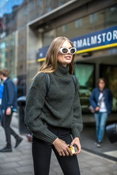Inspires scandinavian, swedish autumn winter fashion, knits, classic style via: Swede Style: Stockholm Fashion Week