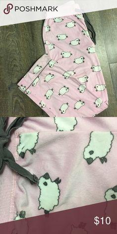 Women's pajama pants Super soft pink with sheep small pajama pants. Intimates & Sleepwear Pajamas