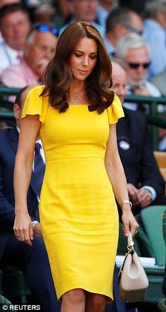 The Duchess of Cambridge at Wimbledon today...