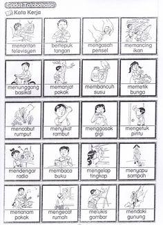 bahasa melayu tah un 1 Kindergarten Assessment, Free Kindergarten Worksheets, Grammar Activities, Preschool Printables, Kindergarten Reading, Language Activities, Language Study, English Language Learning, Learning Money