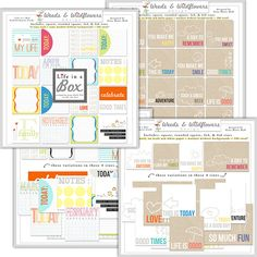 Life in a Box Simple Squares & Sample Templates--great concept!