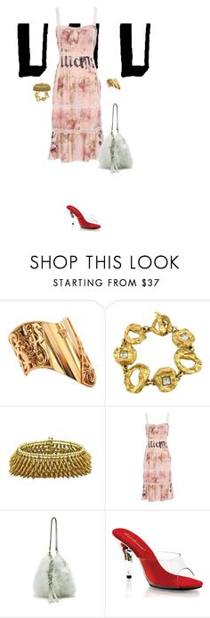 """""""s"""" by clue ❤ liked on Polyvore featuring Versace, Christian Lacroix, John Galliano, Nina Ricci and Fabulicious"""