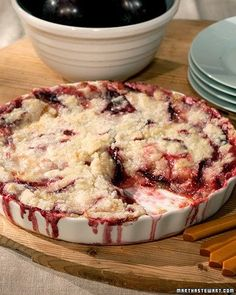 Plum Crumble - Absolutely delish! Probably my favorite plum dessert.
