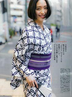 オッジp43コ0マ白地(七宝) Japanese Beauty, Japanese Style, Yukata Kimono, Kimono Top, Japanese Outfits, Japanese Kimono, Feminine, Female, Elegant