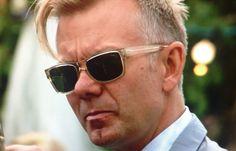 Barton Perreira: Kero (Kerouac) sunglasses in champagne with vintage green lenses