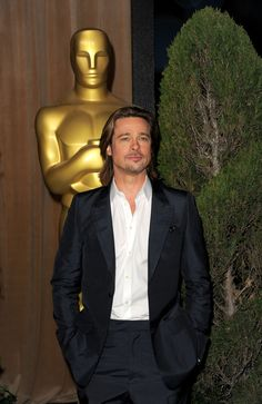 Brad Pitt Photos - Actor Brad Pitt arrives at the Academy Awards Nominations Luncheon at The Beverly Hilton hotel on February 2012 in Beverly Hills, California. - Stars at the Oscar Nomination Lunch The Beverly, Beverly Hilton, Brad Pitt Photos, Billie Jean King, Dean Martin, Michael Fassbender, Photo L, Celebs, Celebrities