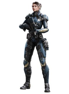 Female Soldier with Submachine gun Female Armor, Female Soldier, Female Cyborg, Gangsters, Science Fiction, Face Anime, Chasseur De Primes, Girl Faces, Futuristic Armour