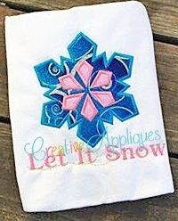 Snowflake Applique - 4 Sizes! | What's New | Machine Embroidery Designs | SWAKembroidery.com Creative Appliques
