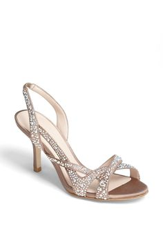 Pelle Moda 'Gretel' Sandal For Brides  3″ heel (size 8.5).Textile upper/synthetic lining/leather sole.  http://www.weddingfashioning.com/wedding-shoes/pelle-moda-gretel-sandal-for-brides.html