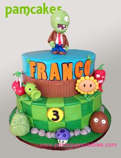 Discover recipes, home ideas, style inspiration and other ideas to try. Zombie Birthday Parties, 5th Birthday Party Ideas, Zombie Party, 9th Birthday, Plants Vs Zombies, Zombies Vs, Plantas Versus Zombies, Plant Zombie, Custom Birthday Cakes