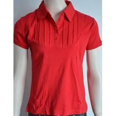 9edd6e453d0 Piazza Italia dámské tričko s krátkým rukávem červené M