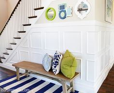 wainscoting stairs entryway