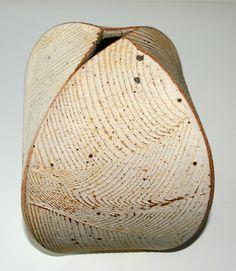 Richard Manz, four sided vase in stoneware, own studio Denmark. H: 22 cm.