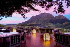 Delaire Graff Estate Restaurant in Stellenbosch, Winelands, Western Cape, South Africa Silvester Trip, Hotel Et Spa, Amalfi, Cape Town South Africa, Vacation Deals, Chile, Africa Travel, Bora Bora, Nice View