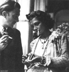 Salvador Dali và Coco Chanel.