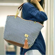 New Fashion Women's Lady Street Snap Tote Bag Canvas Handbag