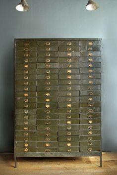 Vintage metal 80 drawer cabinet