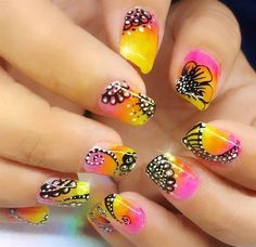 Day 153: Summer Flowers and Nesting Nail Art - - NAILS Magazine