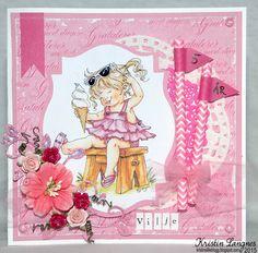 Kristins lille blogg: Rosa bursdagskort