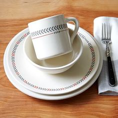 FEED Dinnerware Set - Arrow Stripe   West Elm