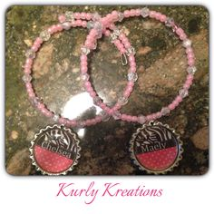 Wow this has reached over 111 people already over at Kurly Kreations... That's exciting. Haven't had an item reach that many people that fast (with in three hours ) granted these are a gift for an awesome customer of mine, I am thinking of selling these.... Of course withe the name of your choice :) Please like and share my page http://www.facebook.com/kirstenskurlykreations