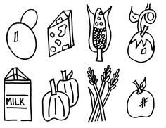 grown healthy food coloring pages