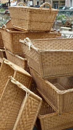 Vintage French Laundry Baskets