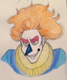 a lil doodle of @karkats-longsleeves clown boi grimsley bc hes beautiful and i love him!! he was super fun to draw :,)