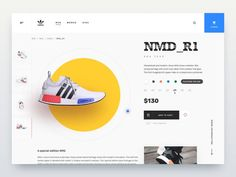 Sneakers shop - motion design designed by Mateusz Jurkiewicz for Miquido. Connect with them on Dribbble; Best Ui Design, Web Design, Motion Design, Ui Design Inspiration, Application Design, Ui Web, Animation, Nmd, Show And Tell