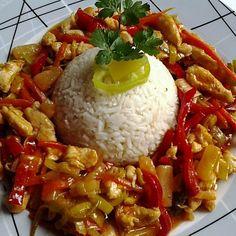 Egy finom Édes-savanyú-csípős csirkemell ebédre vagy vacsorára? Édes-savanyú-csípős csirkemell Receptek a Mindmegette.hu Recept gyűjteményében! Meat Recipes, Asian Recipes, Chicken Recipes, Dinner Recipes, Cooking Recipes, China Food, Hungarian Recipes, Wok, Restaurant Bar