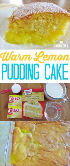 Warm Lemon Pudding Cake recipe from The Country Cook