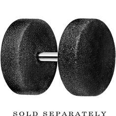 "16 Gauge 3/16"" Black Sandblasted Steel Cheater Plug | Body Candy Body Jewelry"