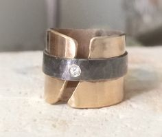 Contemporary Statement Ring...Fine Silver Band by designsbydangelo, $320.00