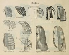 1880s bustle types