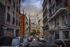 Rey, Madrid, Street View, Shopping, The Neighbourhood, Street, Rainy Days, Urban Landscape, Scenery