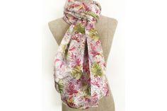 idéal pour robes d/'été Rose carrés cachemire doux et tissu léger