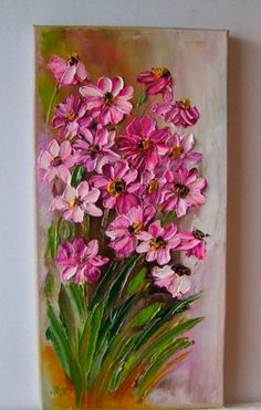 What is Your Painting Style? How do you find your own painting style? What is your painting style? Texture Painting On Canvas, Acrylic Painting Flowers, Knife Painting, Paint Flowers, Flower Canvas, Flower Art, Art Of Flowers, Draw Flowers, Beautiful Paintings Of Flowers