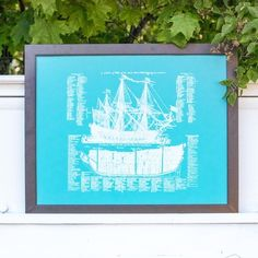 Ship Diagram Ocean Blue from Fab on shop.CatalogSpree.com, your personal digital mall.
