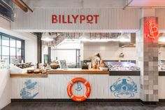 Started by Albert Sanford in 1904 the Auckland Fish Market has been the beating heart of New Zealand seafood for well over 100 years.  Seafood Store, Seafood Restaurant, Restaurant Design, Counter Design, Kitchen Design, Kitchen Decor, Restaurant Counter, Fish Monger, Fish And Chip Shop