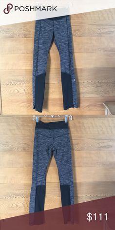 Size 4 lululemom leggings EUC Like new!  I dont think they have ever been worn.  Form fitting black and white lululemon leggings. lululemon athletica Pants