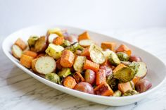 Roasted Potatoes, Carrots, Parsnips and Brussels Sprouts