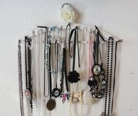 How to make a necklace organizer. Necklace Display From Coathanger - Step 5