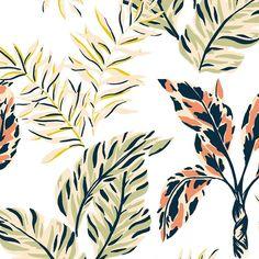 Textile Prints, Leaf Prints, Floral Prints, Art Prints, Tropical Prints, Pattern Art, Print Patterns, Art Diary, Tropical Pattern