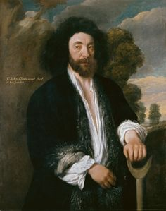 John Tradescant the Younger (1608 – 62) attributed to Flemish artist Thomas de Critz - date circa 1645