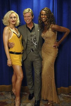 Gwen Stefani David Bowie and Iman during 2005 Fashion Rocks Audience... News Photo 109638899