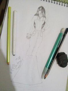 #Desenhos #croqui #Croquidemoda #Moda #modafeminina #Pinterest #Look