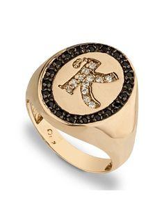 Δαχτυλίδι με Μονόγραμμα Χρυσό 14Κ Αναφορά 019140 Δαχτυλίδι με μονόγραμμα από Χρυσό Κ14 σε κίτρινο χρώμα και διακοσμημένο με ημιπολύτιμες πέτρες (ζιργκόν) σε λευκό και μαύρο χρ Cuff Bracelets, Stuff To Buy, Jewelry, Fashion, Moda, Jewlery, Jewerly, Fashion Styles, Schmuck